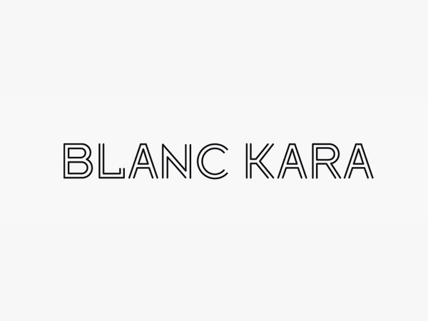 Logotype created by Coast for Florida based designer boutique hotel Blank Kara's new cosmetic range