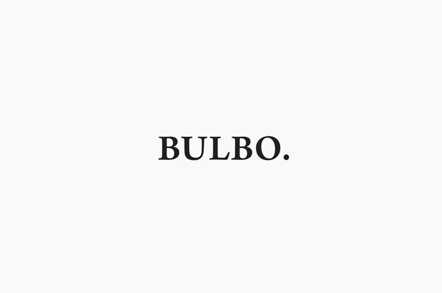 Logotype for high-end boutique lighting shop and interior planning service Bulbo designed by Anagrama