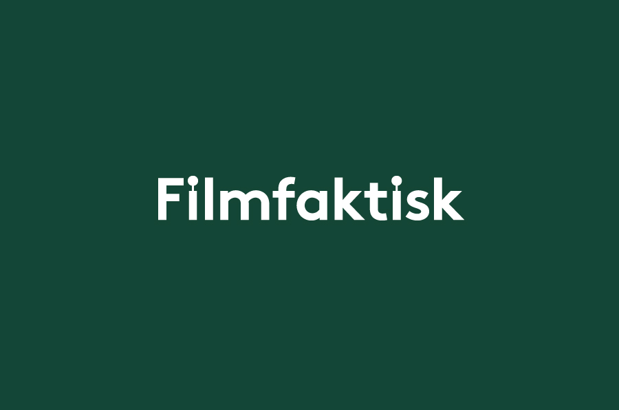Logotype for Norwegian location-focused filmmakers Filmfaktisk designed by Heydays
