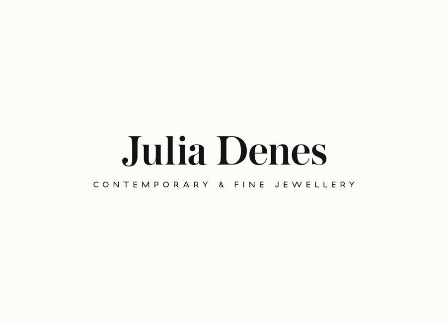 Logo for contemporary handmade jewellery designer Julia Denes by Studio Sammut