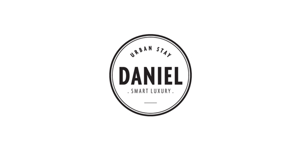 Logo designed by Moodley for Vienna and Graz based luxury hotel Daniel