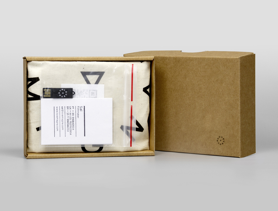 Promotion box for production studio Love Magna designed by Musa WorkLabs