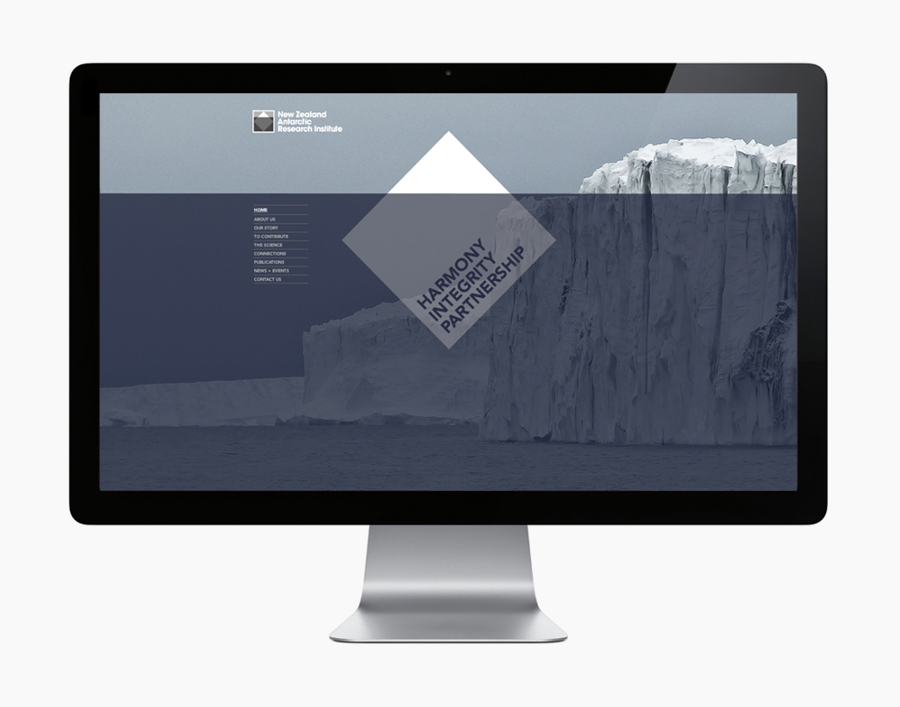 Logo and website created by BRR for New Zealand Antarctic Research Institute