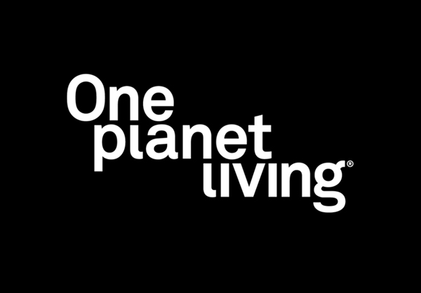 Logo for One Planet Living designed by Demian Conrad