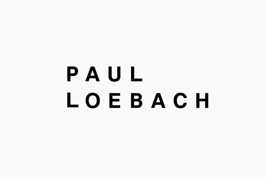 Logotype for three dimensional designer Paul Loebach created by Studio Lin