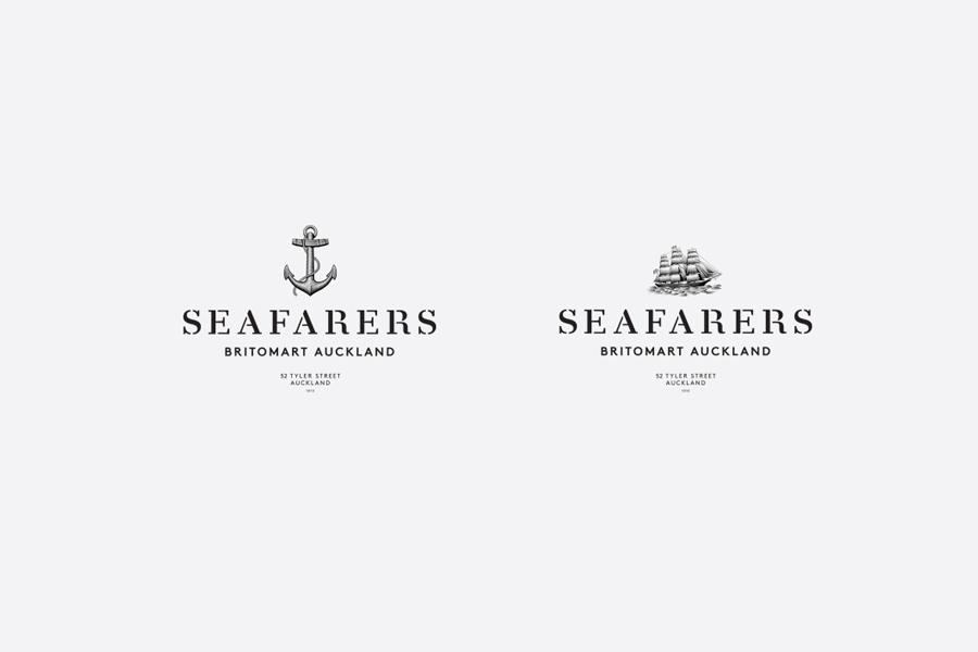 Logo with etched illustrative detail designed by Inhouse for Seafarers