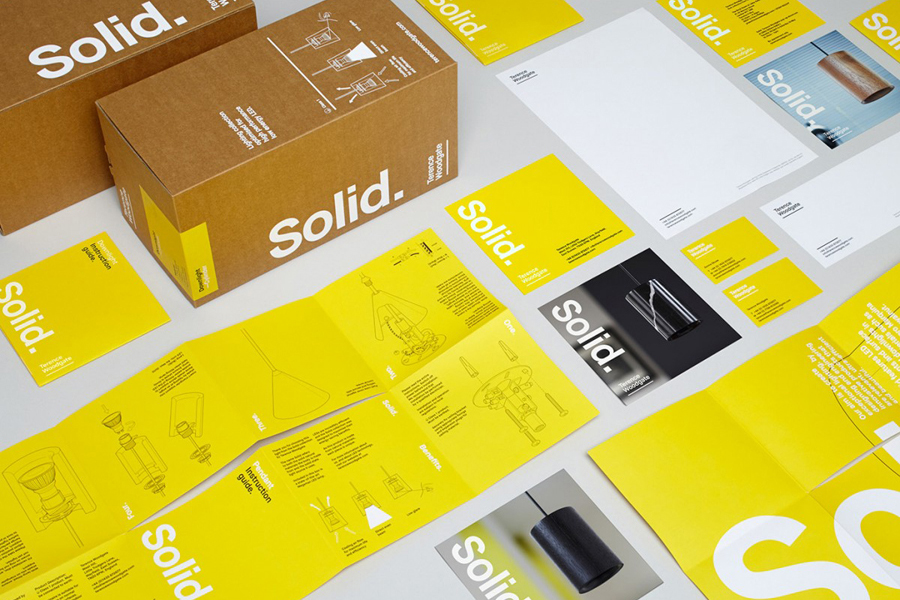 Packaging for lighting design and manufacturer Terence Woodgate designed by Charlie Smith Design