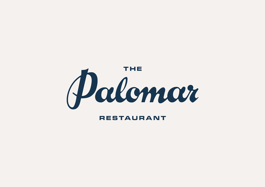 Logotype designed by Here for Soho restaurant The Palomar