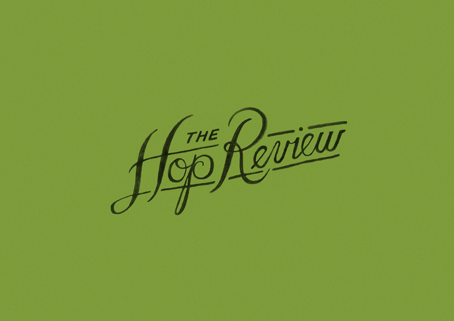 Script logotype created by Jack Muldowney for beer blog The Hop Review