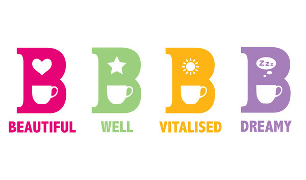 Logo for B Tea from Whittard designed by Nick and Carole
