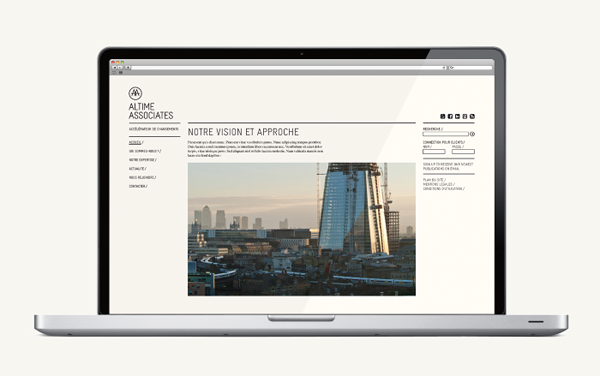 Logo and website design by Fiftree for French consulting and management firm Altime Associates