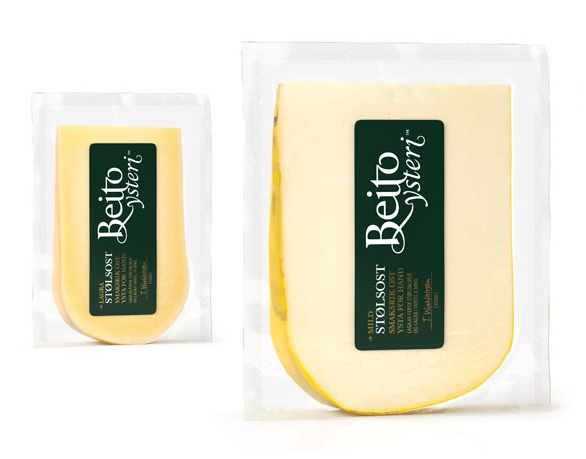 Packaging and logotype created by Strømme Throndsen Design for Norwegian cheese brand Beito Ysteri
