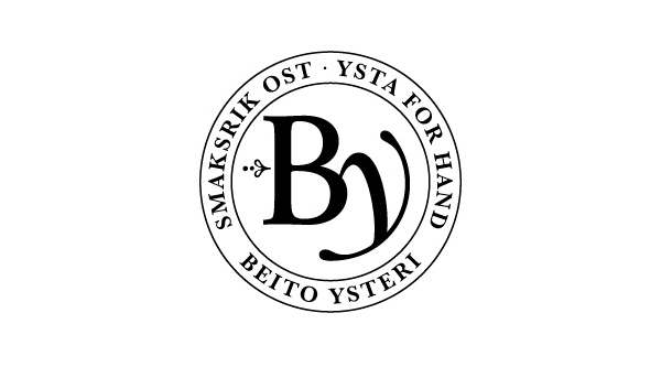 Logo created by Strømme Throndsen Design for Norwegian cheese brand Beito Ysteri