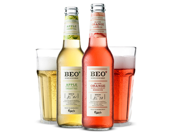 Packaging by Ergo for sparkling fruit drink range Beo*