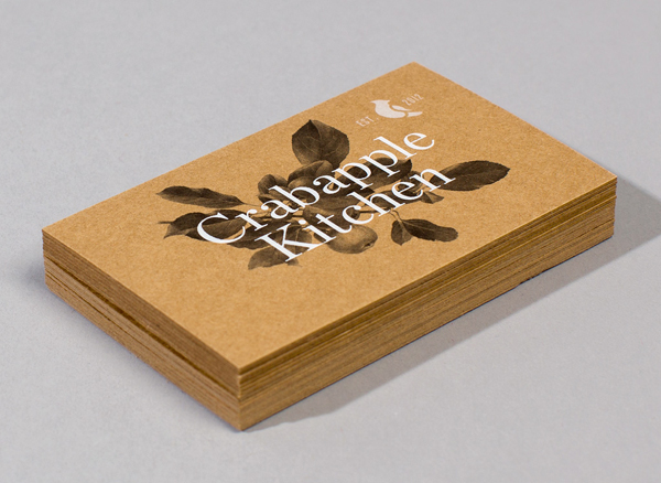 Crabapple Kitchen - Logo and stationery design by Swear Words