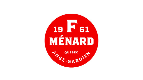 Logo for Canadian pork producer and family run butcher F. Ménard designed by lg2boutique