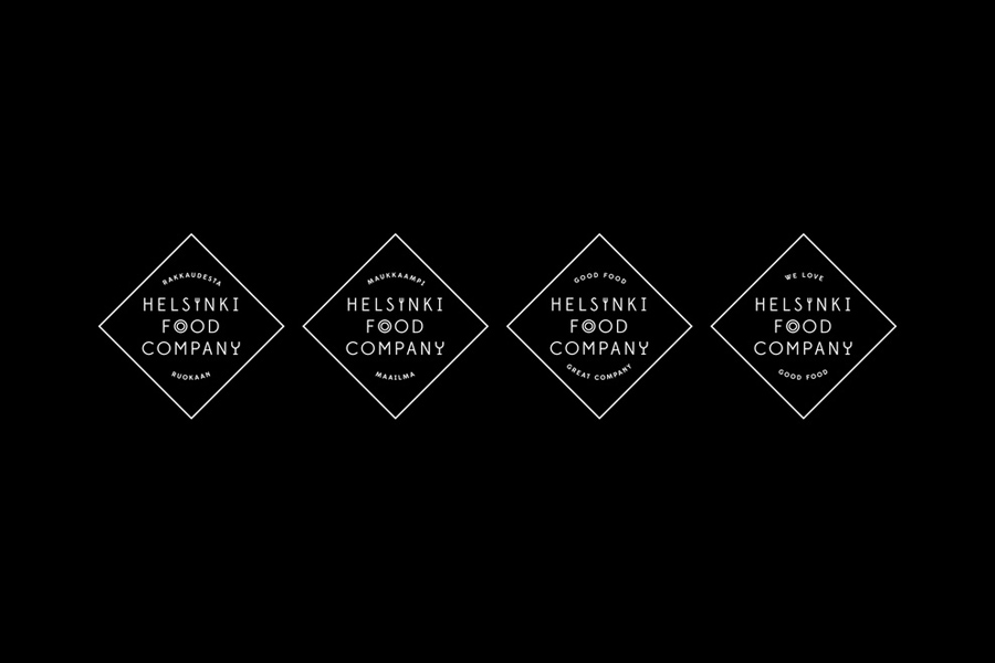 Logo for Helsinki Food Company designed by Werklig