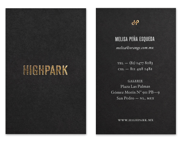 HighPark - Logo, stationery and website design by Face