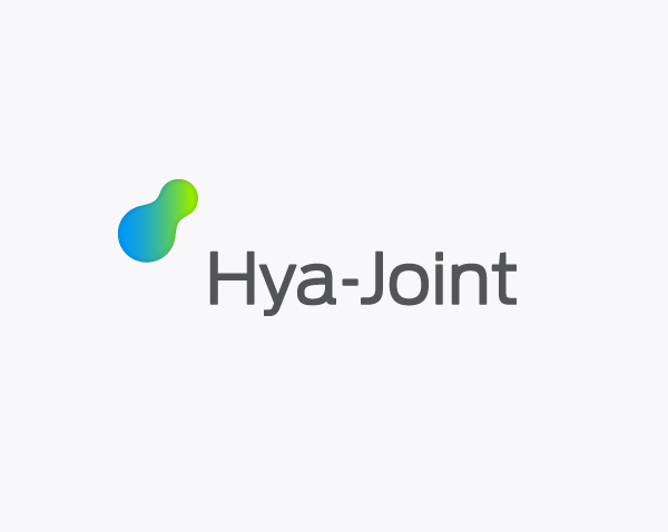 Logo for osteoarthritis pain relief product Hya-Joint designed by Artentiko