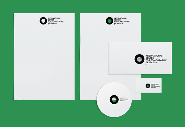 Logo and stationery created by Tomat Design for The International Center for Tomographic Research