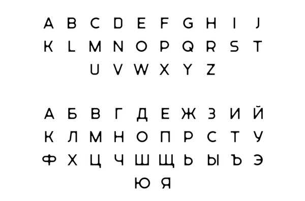 Typeface created by Tomat Design for The International Center for Tomographic Research