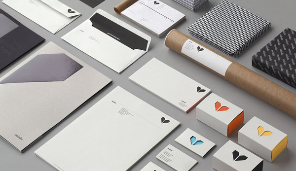 Logo and stationery design by Atipo for Minke
