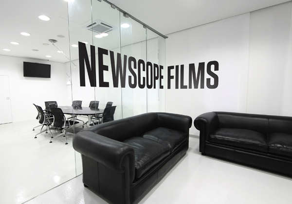 Logo and stationery design by Karoshi for Newscope Films