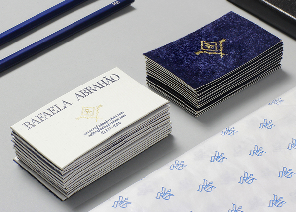 Rafaela Abrahao - Logo and stationery design by Br/Bauen