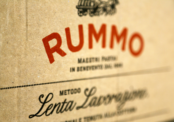 Packaging design by Irving & Co. for Italian pasta manufacturer Rummo