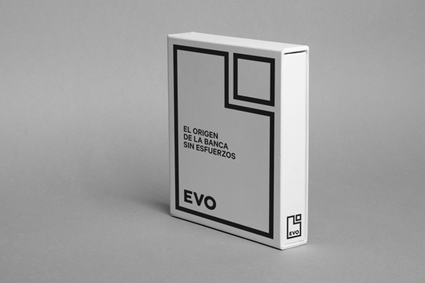 Logo and folder for Spanish Bank Evo designed by Saffron