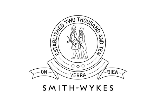 Logo for London and Paris-based male fashion brand Smith-Wykes designed by Studio Small