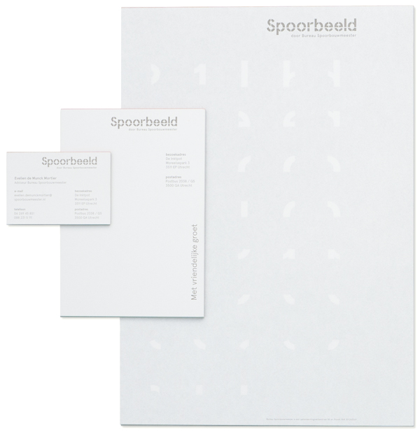 Logo and stationery for Dutch Railway's design infrastructure guide Spoorbeld created by Lava