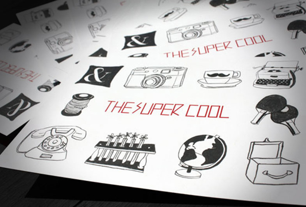 Logotype, illustrations and print designed by Studio Alto for Australian mobile retail experience The Supercool