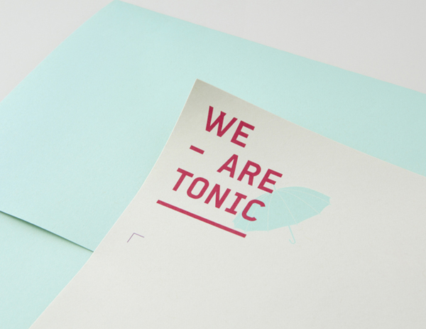 Logo and headed paper designed by Blok for Toronto based advertising agency We Are Tonic