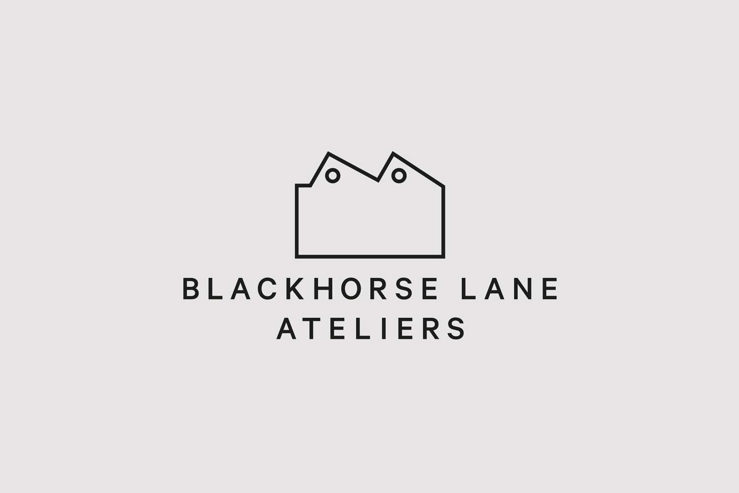 Logo design by StudioSmall for premium selvedge and organic raw denim jeans brand Blackhorse Lane Ateliers.