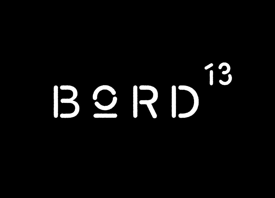 Logotype for Malmö restaurant Bord 13 by Swedish graphic design studio Snask