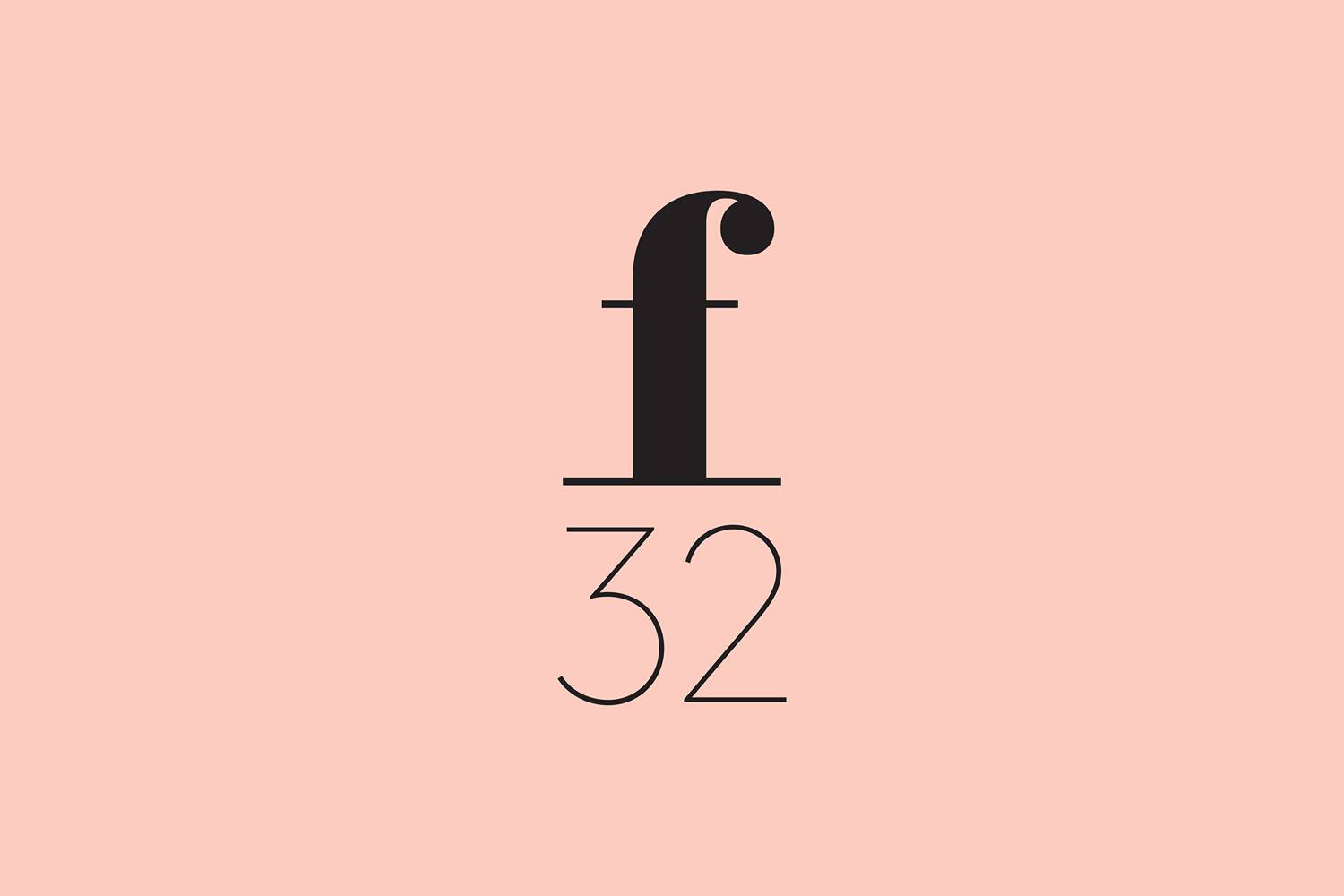 Brand identity and logo by Blok for LA based trend-watching company f32