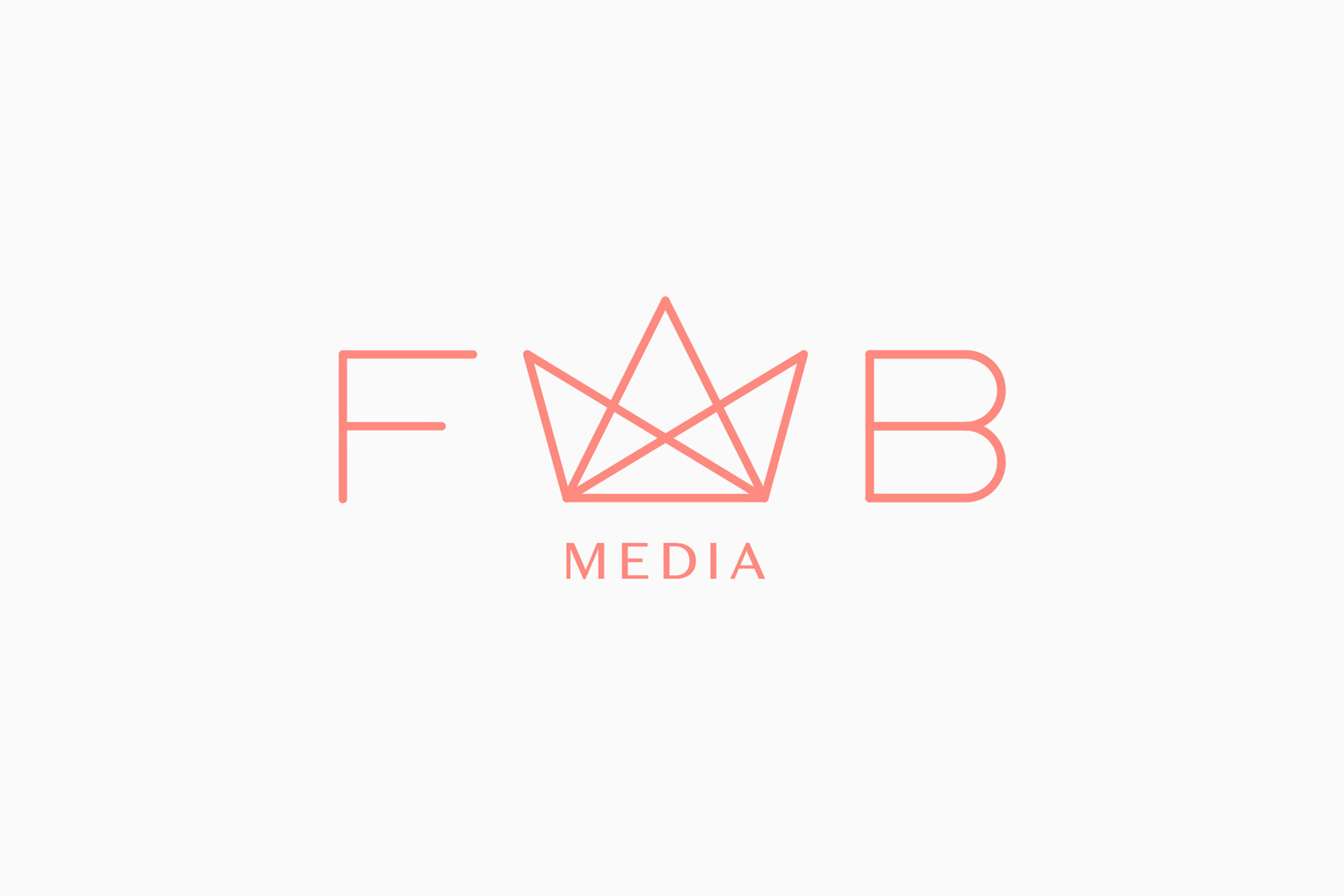 Logo by Stockholm-based graphic design studio Bedow for Swedish company Fab Media
