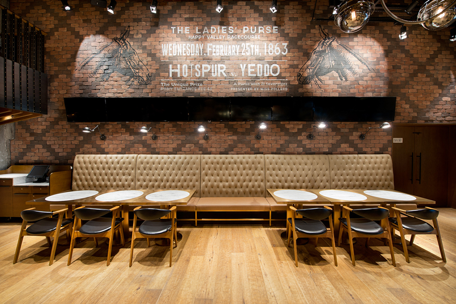 Interior for Hong Kong restaurant Hay-Market designed by Foreign Policy
