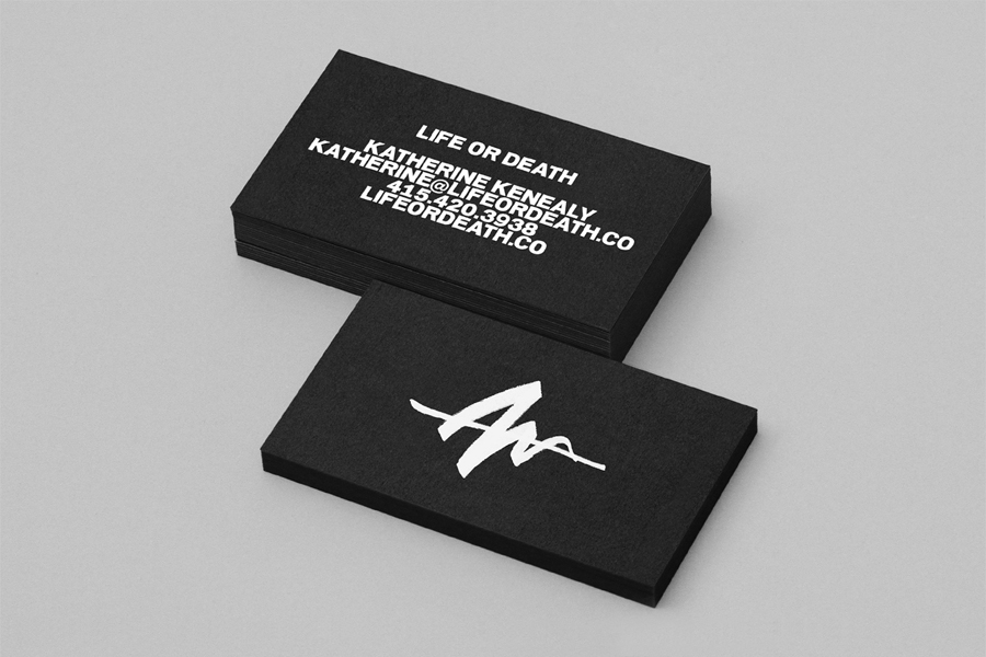 Branding for PR and management business Life Or Death by DIA