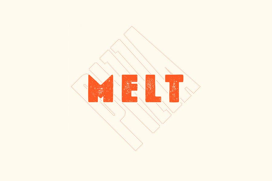 Logo design by Can I Play for Australian pizza franchise Melt