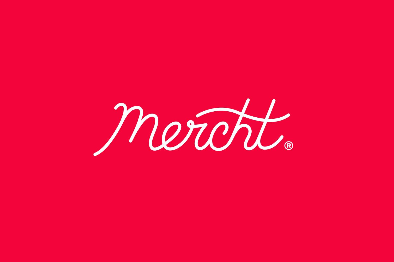 Logotype for UK based custom merchandise business Mercht by Robot Food