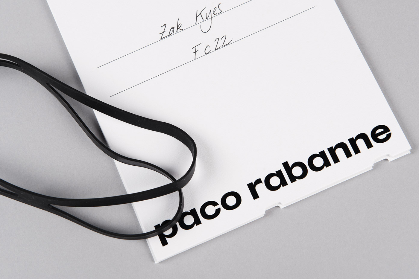Branding for French fashion label Paco Rabanne by Zak Group, United Kingdom