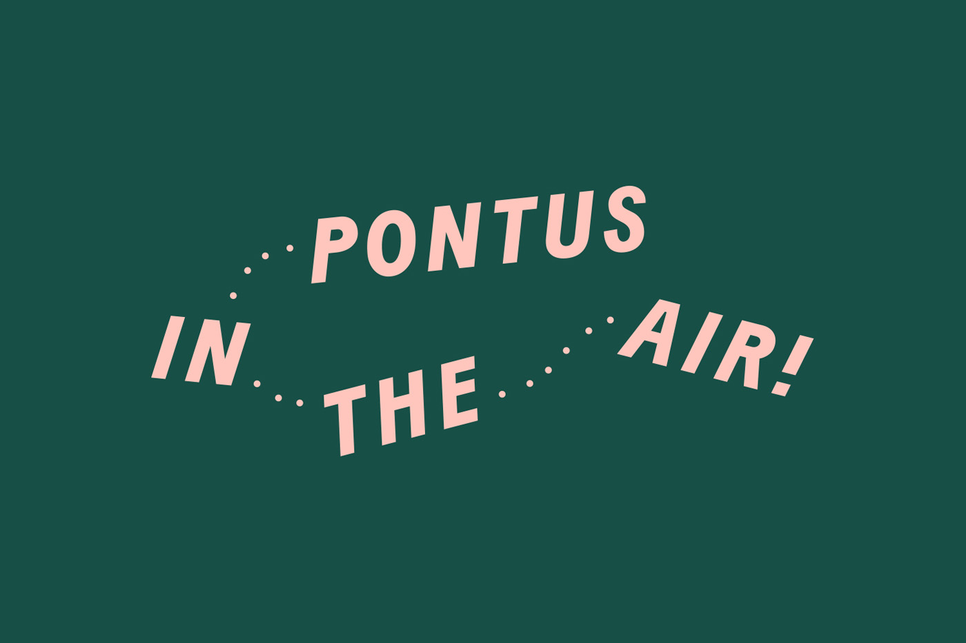 Logotype by Stockholm-based Bold for Arlanda Airport restaurant Pontus In The Air