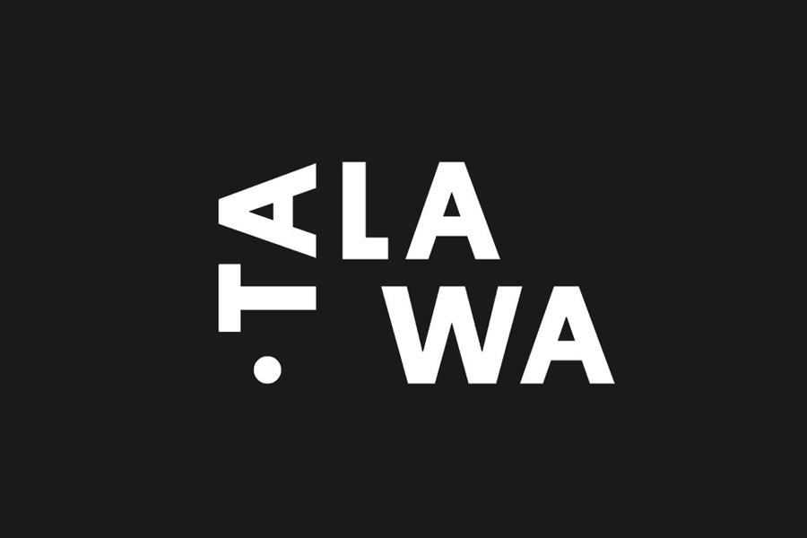 Logotype for UK all black theatre company Talawa by Spy