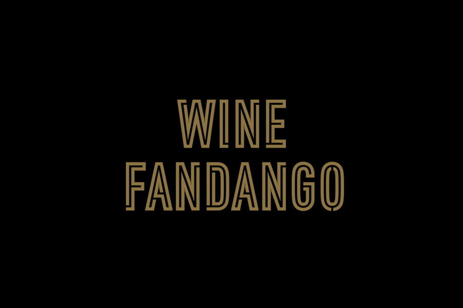 Custom condensed logotype by graphic design studio Moruba for Wine Fandango