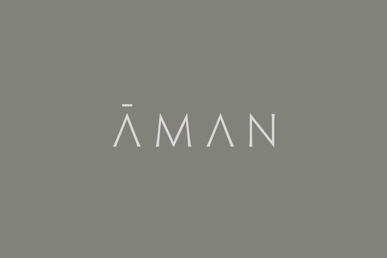 Brand identity and logotype for luxury resort business Aman by Construct, United Kingdom