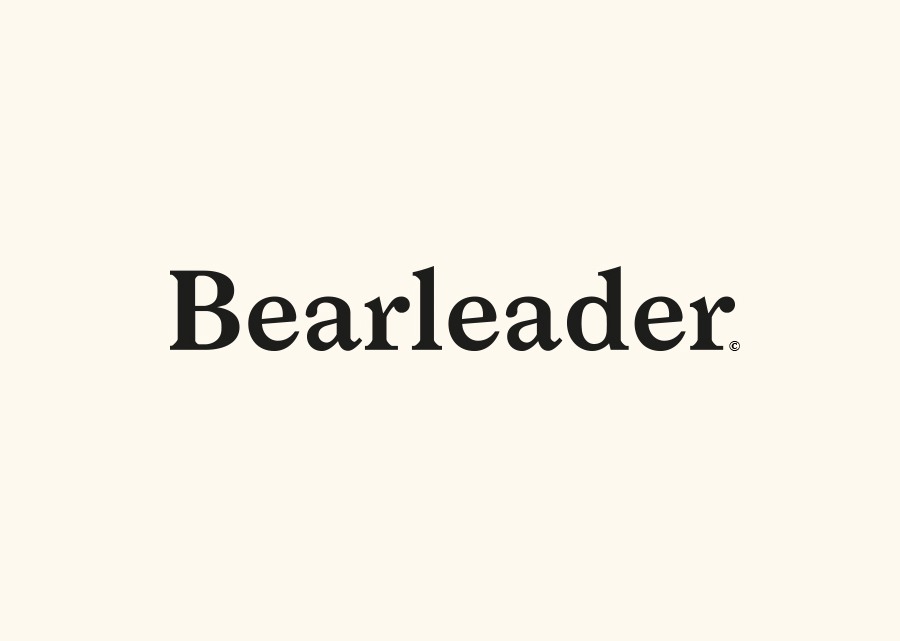 Logotype and brand identity for online publisher Bearleader by The Studio, Sweden