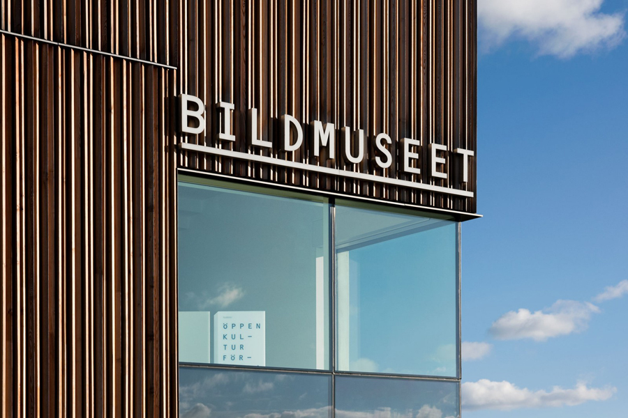 Logotype and signage by Stockholm Design Lab for Swedish University museum and contemporary arts centre Bildmuseet.