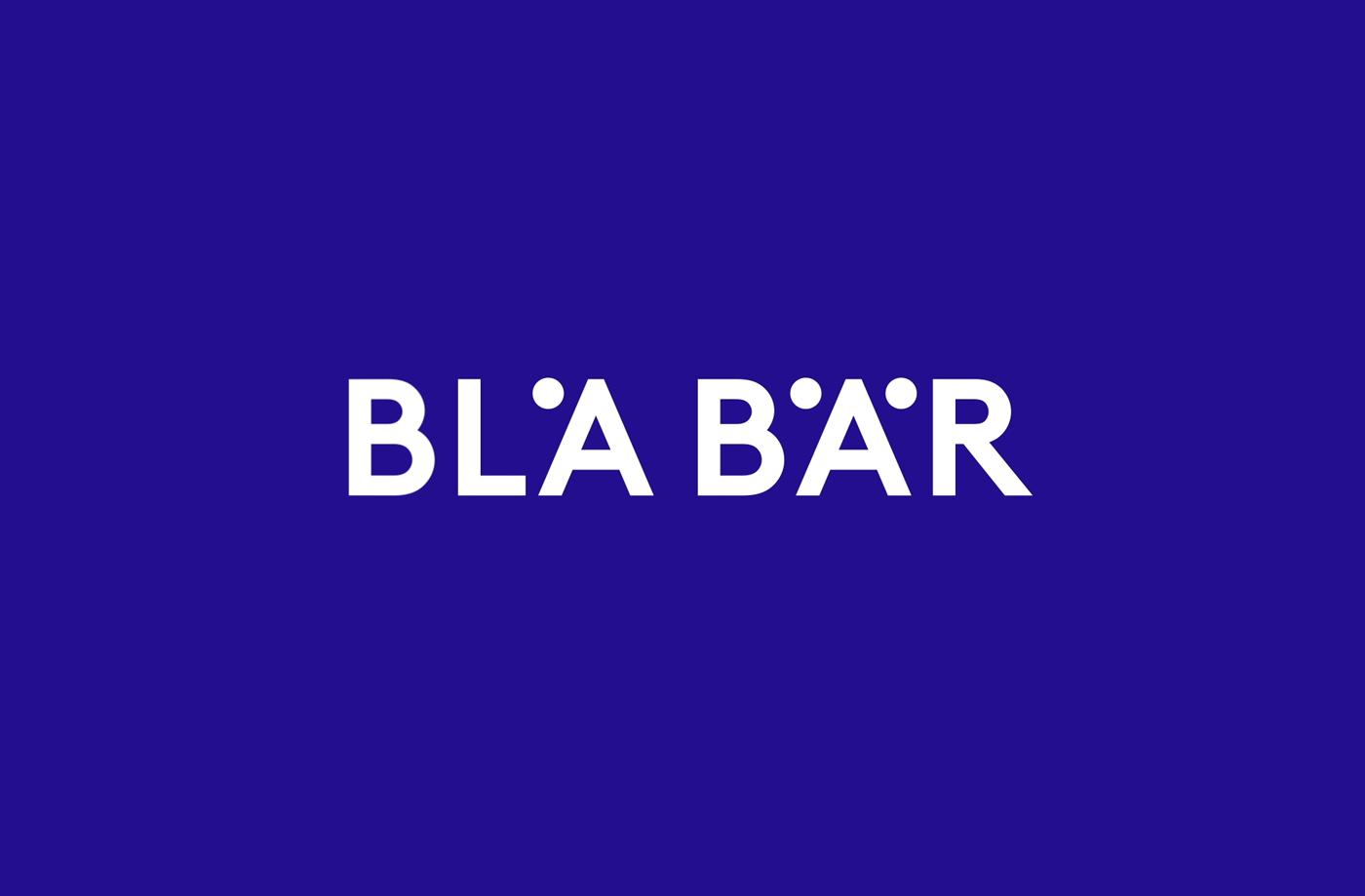Logo by Swedish studio BVD for Osaka-based retailer of Scandinavian goods Blå Bär.